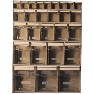 Complete Van Storage Tilt Bin Kit (16 compartments)