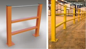Twin Channel Barriers With A Pedestrian Handrail